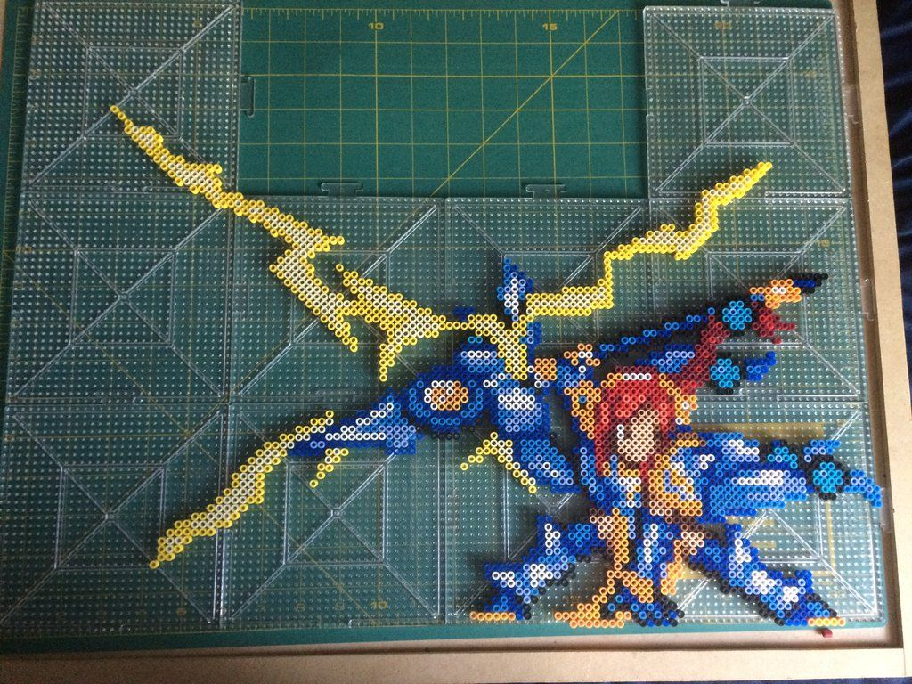 Erza scarlet fairy tail perler beads by tehmorrison