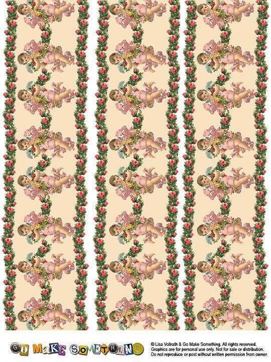 Go Make Something Vintage Valentine Borders Mini Wallpaper And