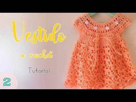 Crochet Fast And Easy Baby Dress #vestidosparabebédeganchillo