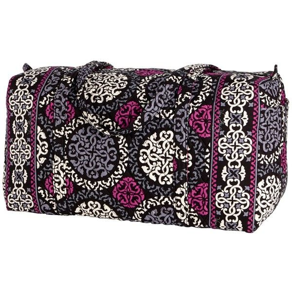 Vera Bradley Large Duffel Travel Bag in Canterberry Magenta ( 64) ❤ liked  on Polyvore 2bca161ffee2a