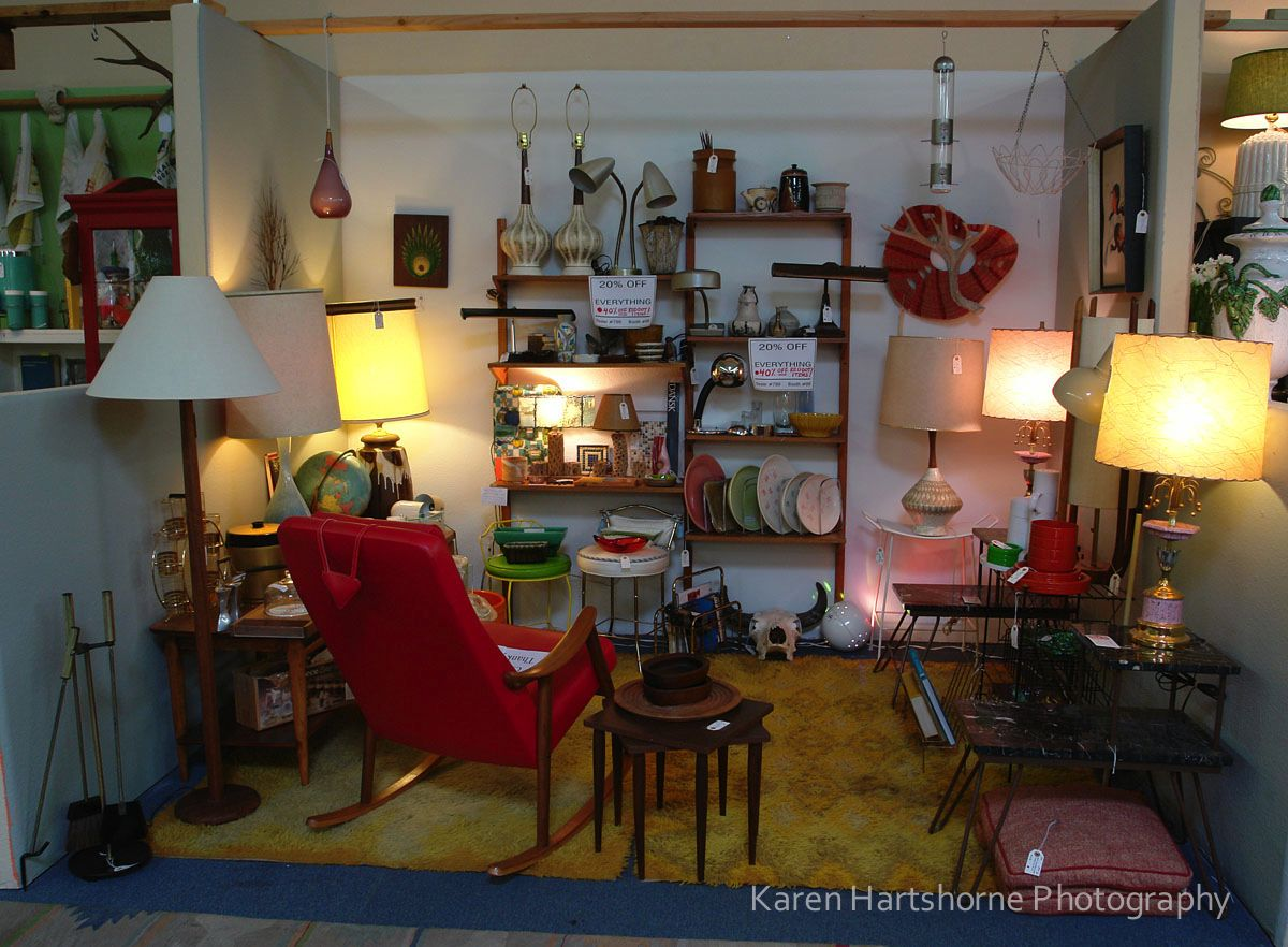 Booth 7 booth 51 mid century modern furniture at copper country antiques in tucson az