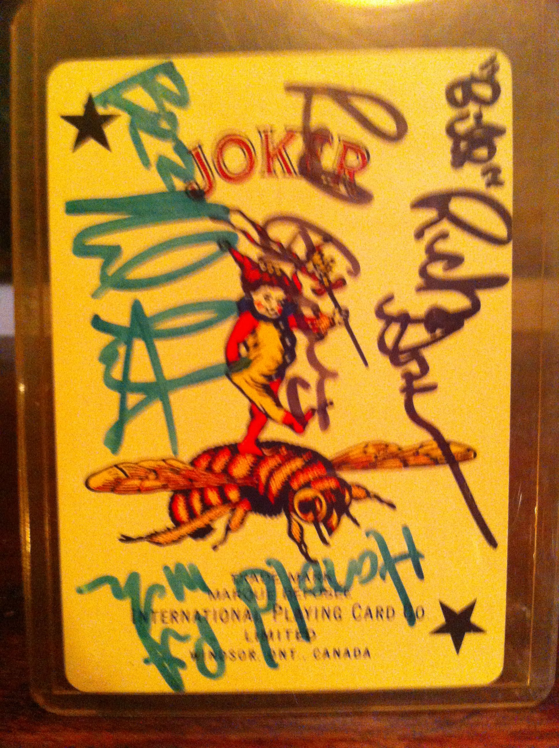 Love The Red Green Show ( Cast Signed Playing Card From