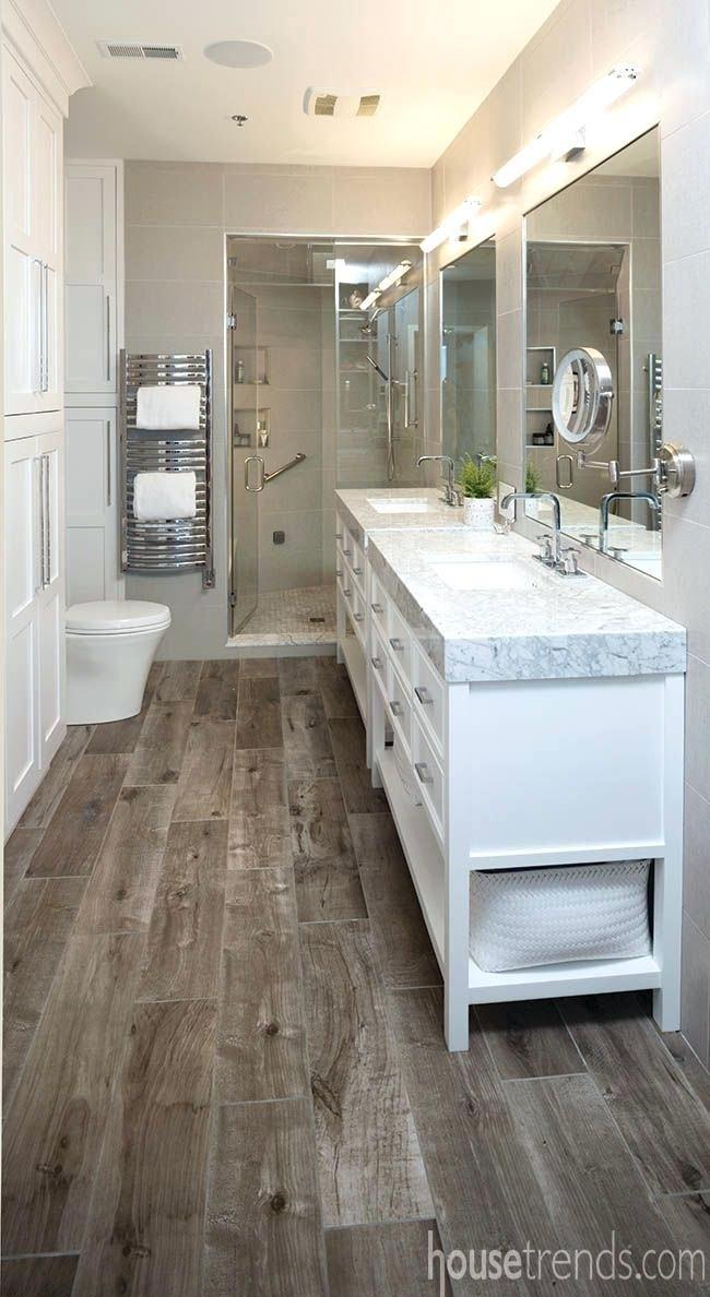 Wood Tile Bathroom Flooring Design Solving Small Space Dilemma