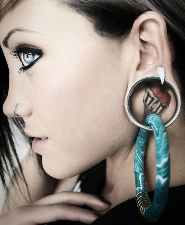 coil closure hoops 0g 00g gauged earrings 28 99 via
