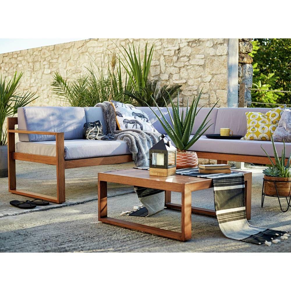 Buy Argos Home 5 Seater Aluminium Corner Sofa Set Wood