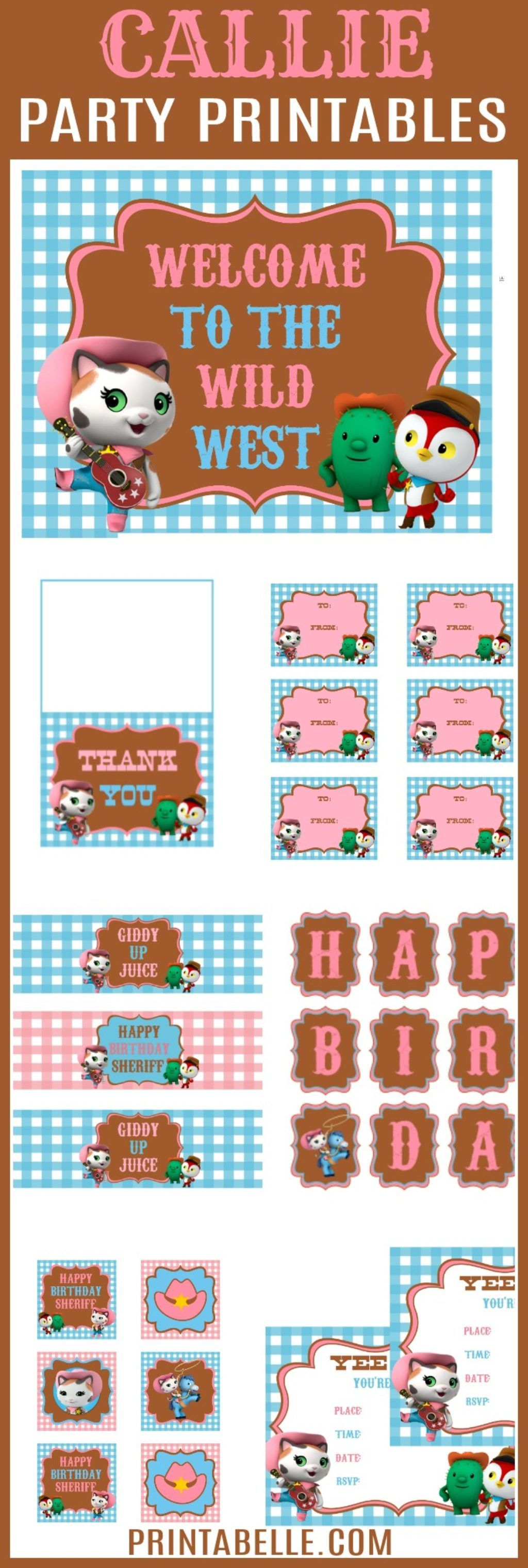 Sheriff Callie S Wild West Party Printables