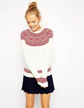 ASOS Christmas Jumper in Fairisle Pattern | Clothes | Pinterest ...
