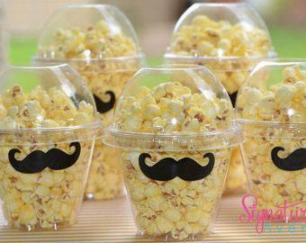 Mustache Party -Popcorn Box-Mustache Party Favor Box-Set of 12