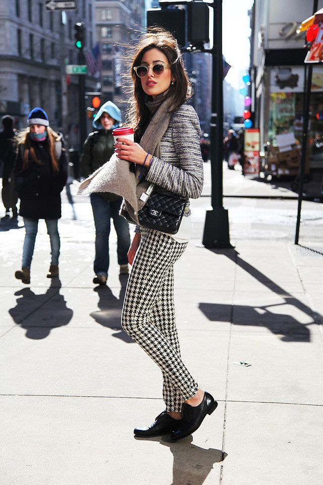 Street style with mixed patterns
