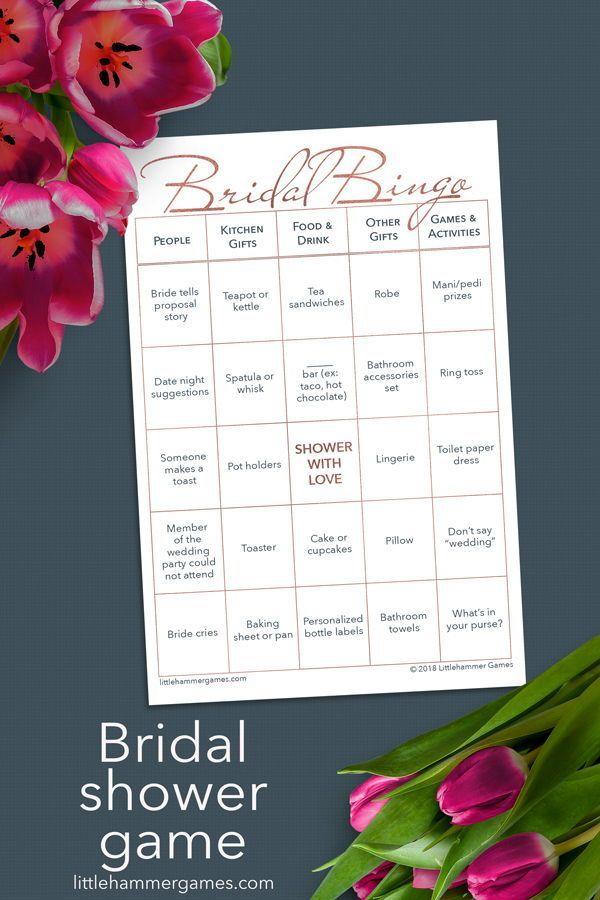 bridal bingo  rose gold printable game cards  wedding