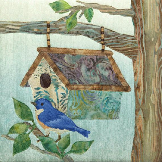 McKenna Ryan, Hangin' In The Hood Quilt Pattern, Home Tweet Home Series, Quilting, DIY, Blue Bird
