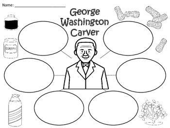 A+ George Washington Carver... Three Graphic Organizers