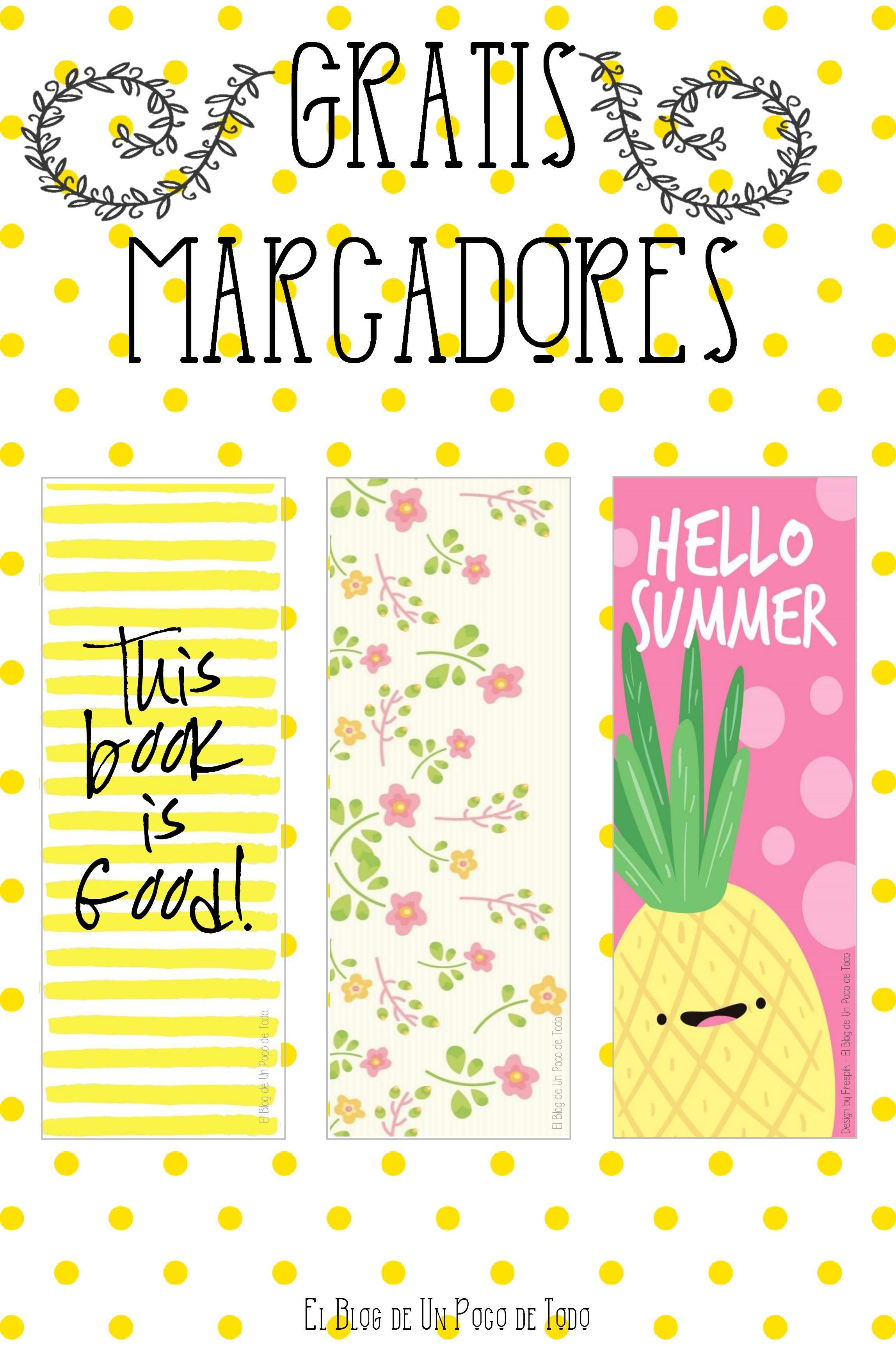 Nuevo Post en el Blog! Descarga estos lindos marcapáginas o ...