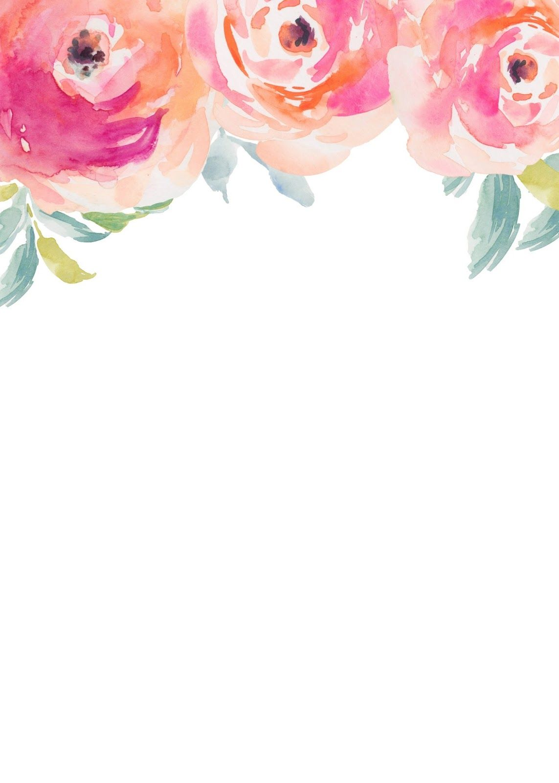 Stripes + Sweets: Friday Freebie: Blank Floral Invitation