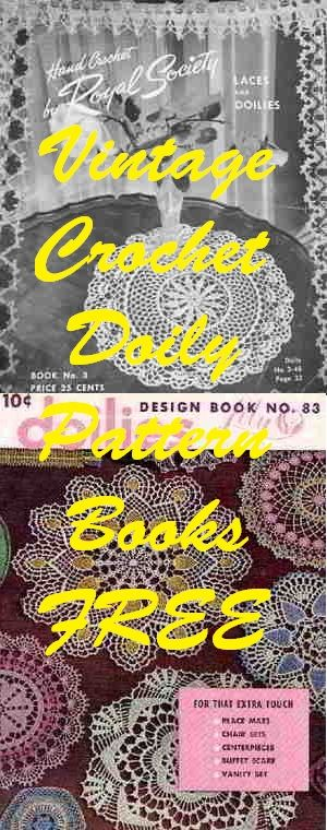 100 of free Vintage Crochet Doilies and More Pattern Books | Doilies ...