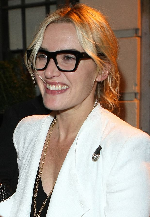 Kate Winslet Wears Thick Black Rimmed Glasses As She Attends The