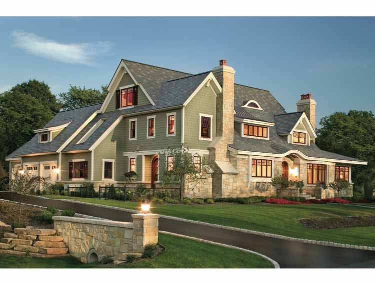 Shingle House Plan With 4610 Square Feet And 4 Bedrooms From Dream Home  Source | House Ideas