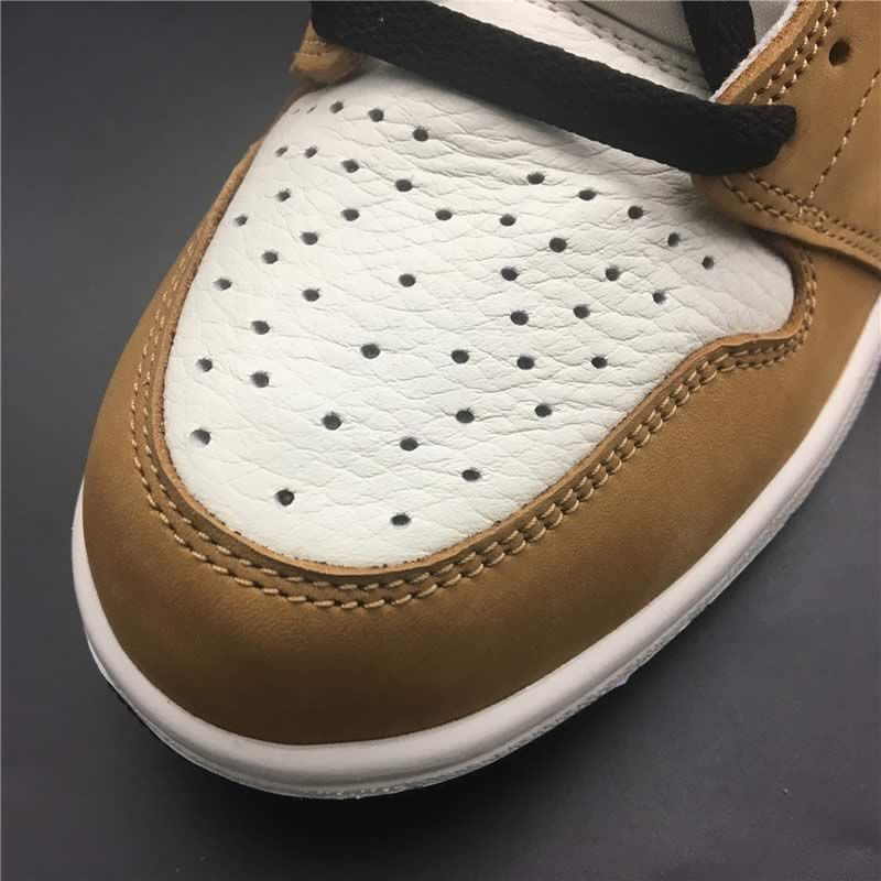 new style 185f2 1c4d9 air jordan 1 retro high og wheat aj1 white black and gold detail images (9