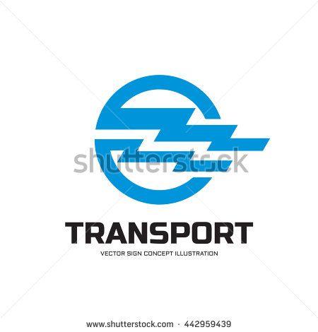 Transport - vector logo concept illustration. Abstract horizontal stripes in circle shape. Design element.
