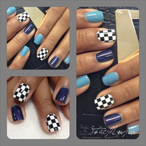 race day nails in 2019 racing
