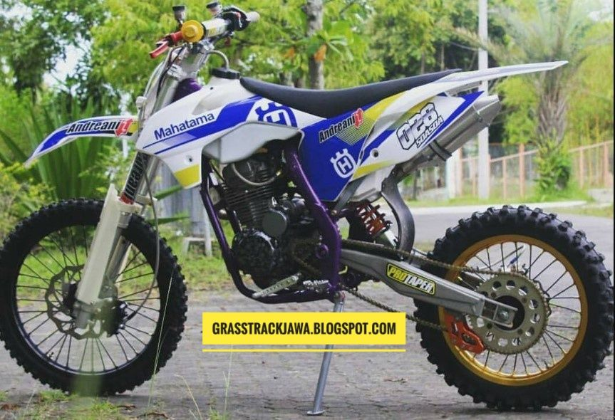 7 Gambar Modifikasi Rangka Motor Trail Cross Grasstrack Karya Anak