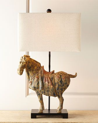 Dynasty Horse Lamps Set Of Two Home Decor Horse Lamp