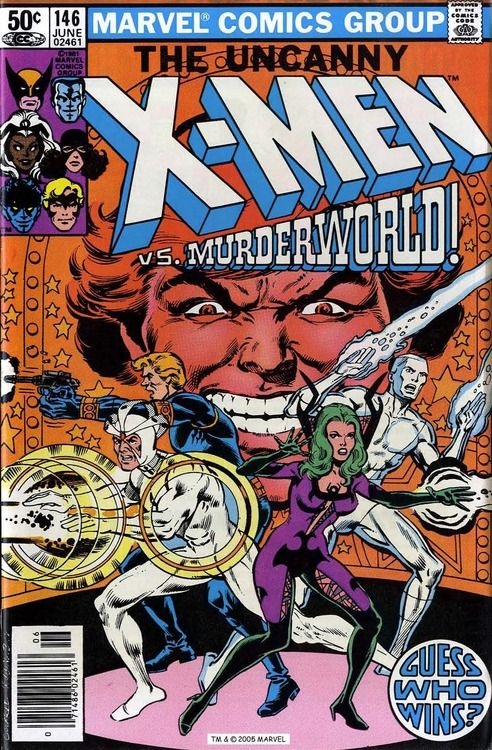 X-Men n°146, June 1981, cover by Dave Cockrum and Josef Rubinstein.