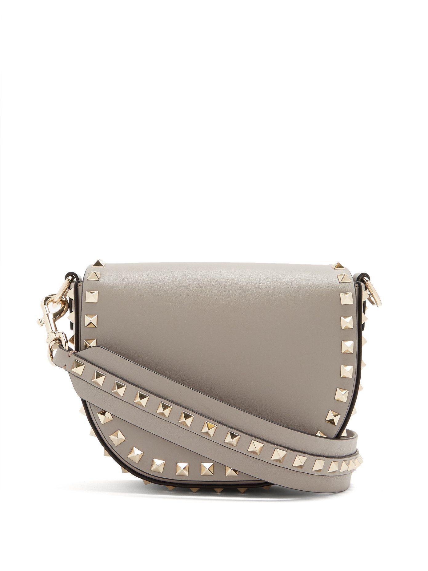 Mini Rockstud Valentino Shoulder Leather Saddle Bag 1FqUqZ84n