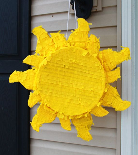 how to make a sun pinata