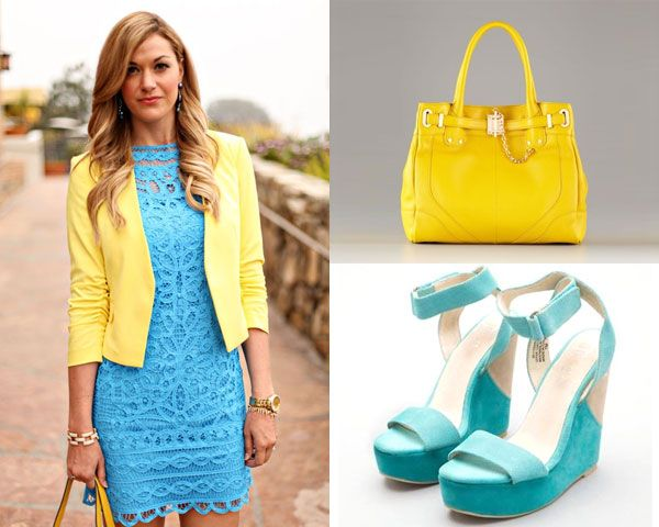 Unique Color Combinations 5 unique color combinations in dresses for spring-yellow and