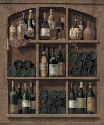 Wine Cellar Top Peel and Stick Mural - Wall Sticker Outlet