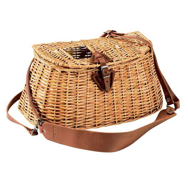 l l bean wicker creel fishing basket beans and fly fishing