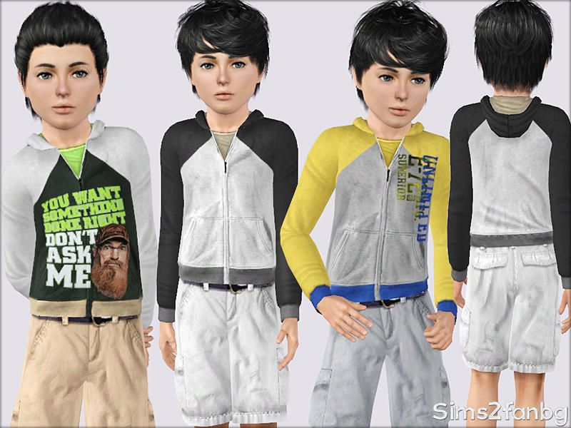sims2fanbg's 337 - Casual sweatshirt for child