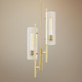 Mitzi Ariel 11 3 4 W Aged Brass 2 Light Mini Pendant Light 76k44 Lamps Plus In 2020 Mini Pendant Lights Pendant Light Light