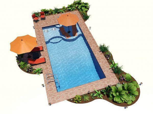 rectangle sundeck and lights 008 600x446 pool designs on beautiful inground pool ideas why people choose bedrock inground pool id=72818