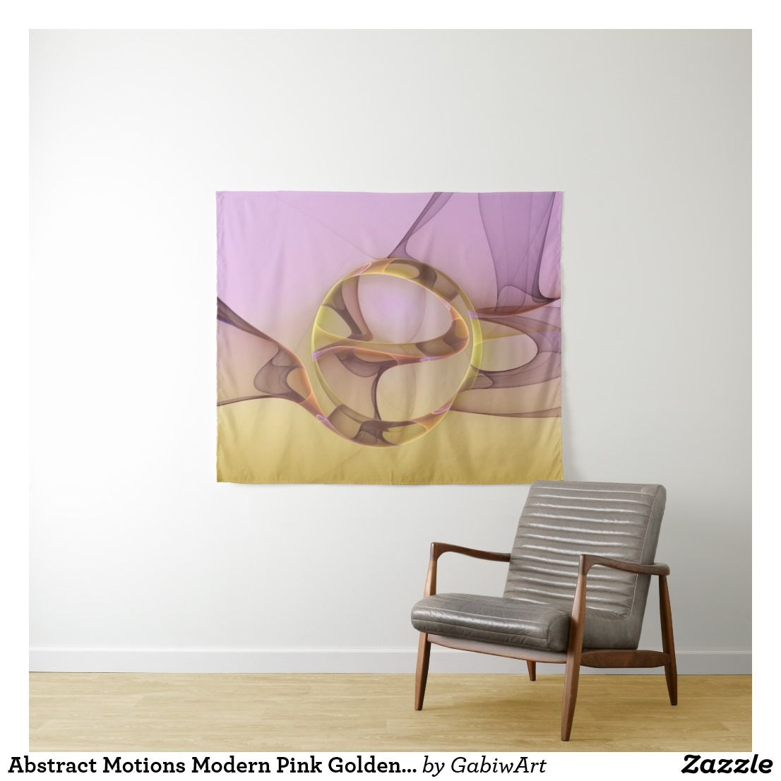 Schlafzimmer Modern Pink Abstract Motions Modern Pink Golden Fractal Art Tapestry