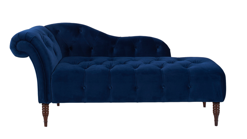 Samuel Tufted Chaise Lounge Right Arm Facing Navy Blue Tufted Chaise Lounge Chaise Lounge Lounge