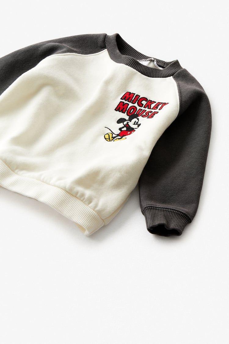 Sudadera Mickey Mouse Disney Zara Venezuela In 2020 Disney Sweatshirts Babymode Für Jungs