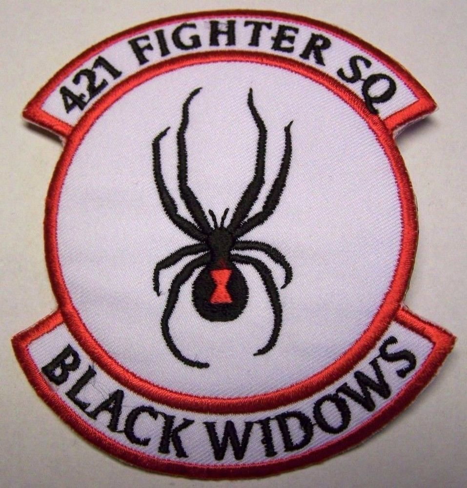 US Air Force 421st Fighter Squadron Patch (Black Widows