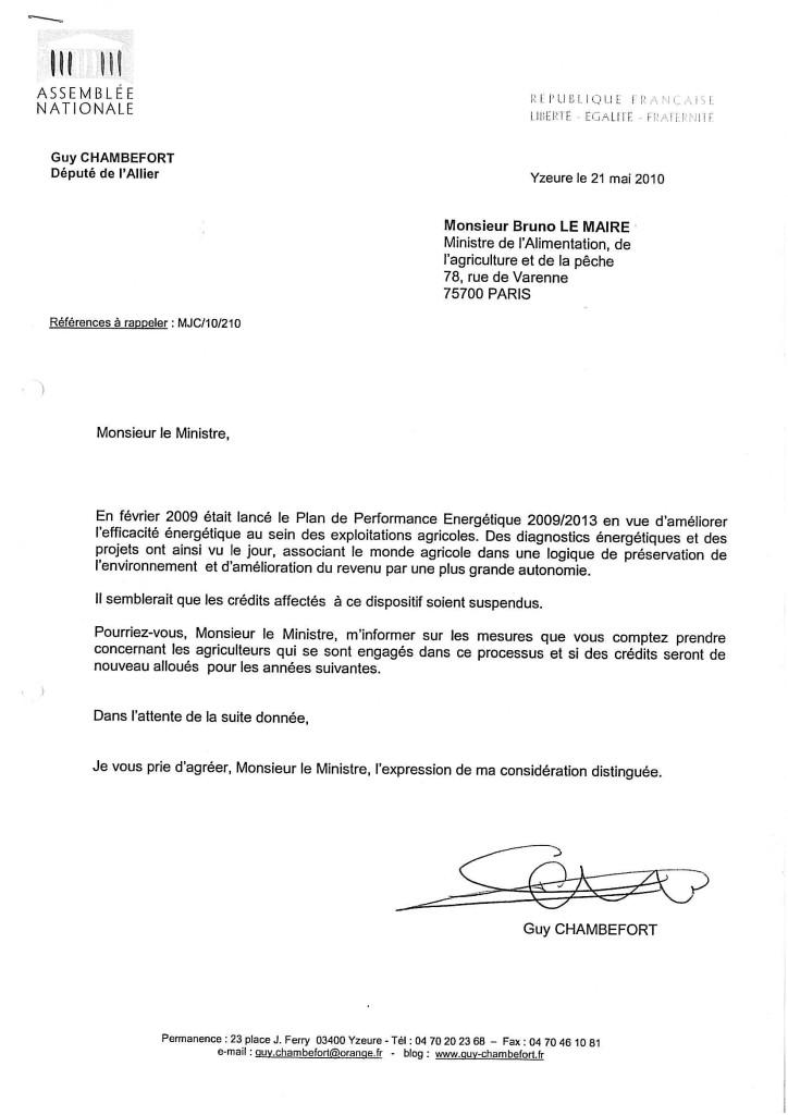 mod u00e8le de lettre  u00e0 un ministre gratuit formule de lettre administrative