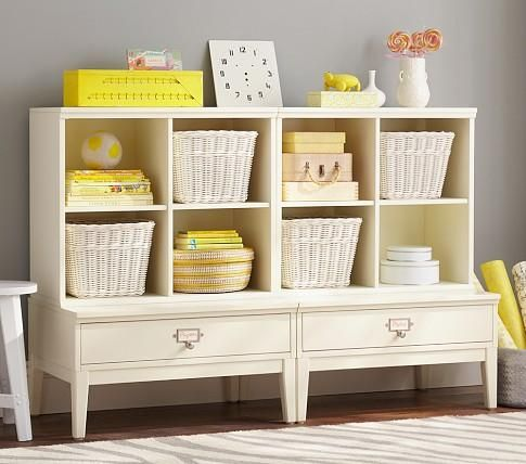 Storage Furniture 2 Library Base Cubby System Pottery Barn Kids