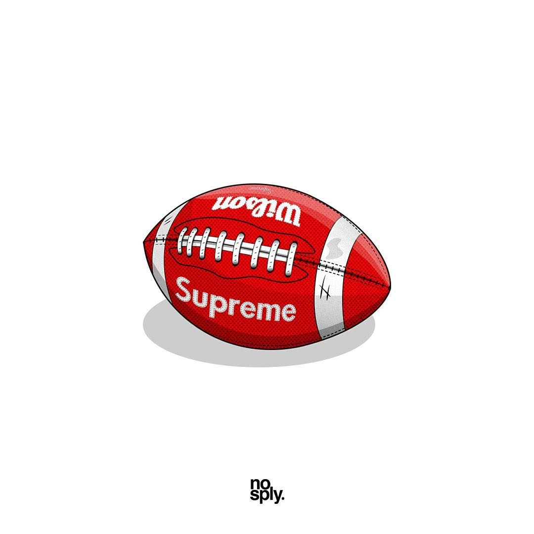 Supreme X Wilson Football Fall Winter 2010 Hope Everyone Is Enjoying Super Bowl Li Nosply Football Is Life Sneaker Art Wilson Football