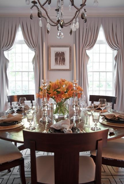 Window Treatments Elegant Dining Grey Dining Room Drapery Designs