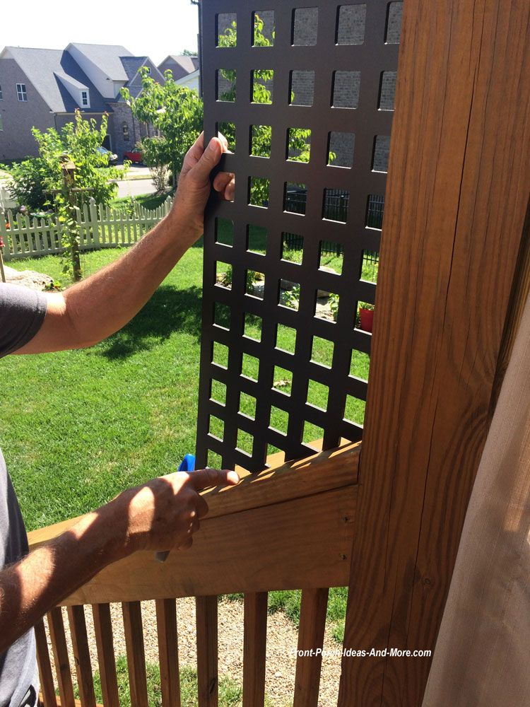 How To Make Porch Privacy Panels Porch Privacy Privacy Panels