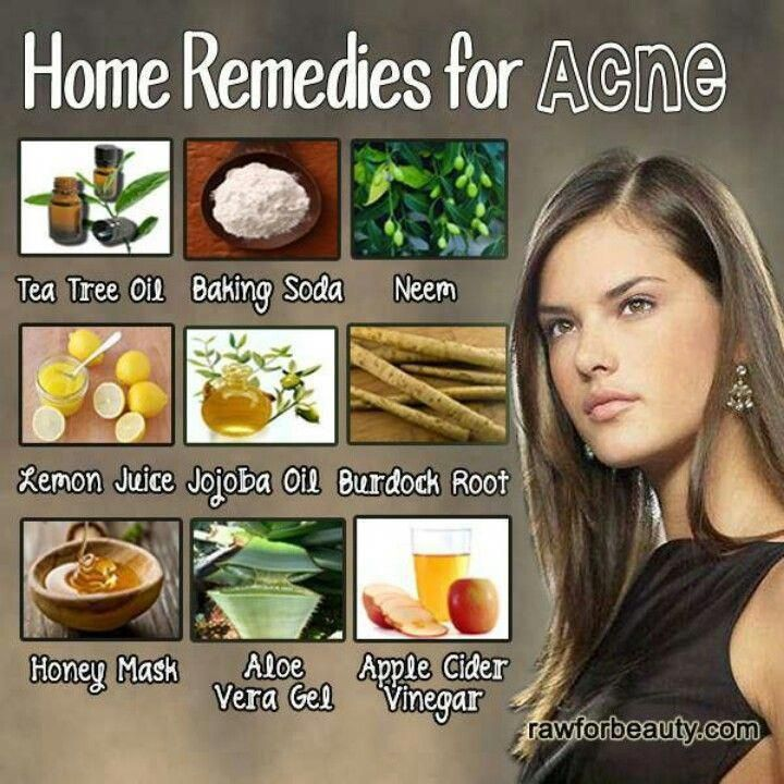 Acne remedies. I use baking soda and lemon juice as a home