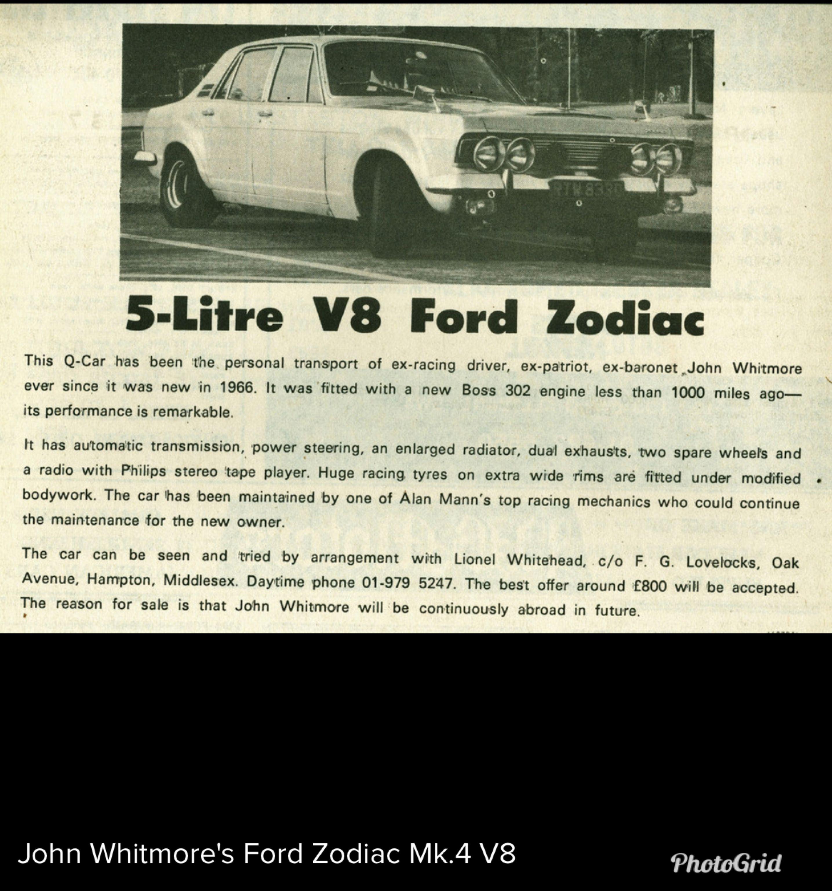 1973 Ford Zodiac Mark Iv V8 Scanned By Kevin Miller To Flickr