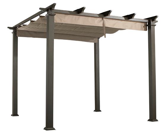 HamptonBay-metal-pergola-canopy-transparent-TH-560x448 - Where To Start With Pergolas Metal Pergola, Wrought Iron And