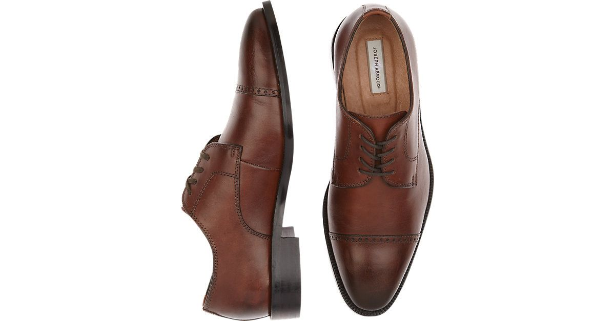 5dfe114b91248 Joseph Abboud Calvin Brown Cap Toe Lace Ups from MensWearhouse.   MensWearhouse