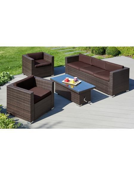 Loungeset »Bari Deluxe«, 14-tlg,2 Sessel, 3er-Sofa,Tisch