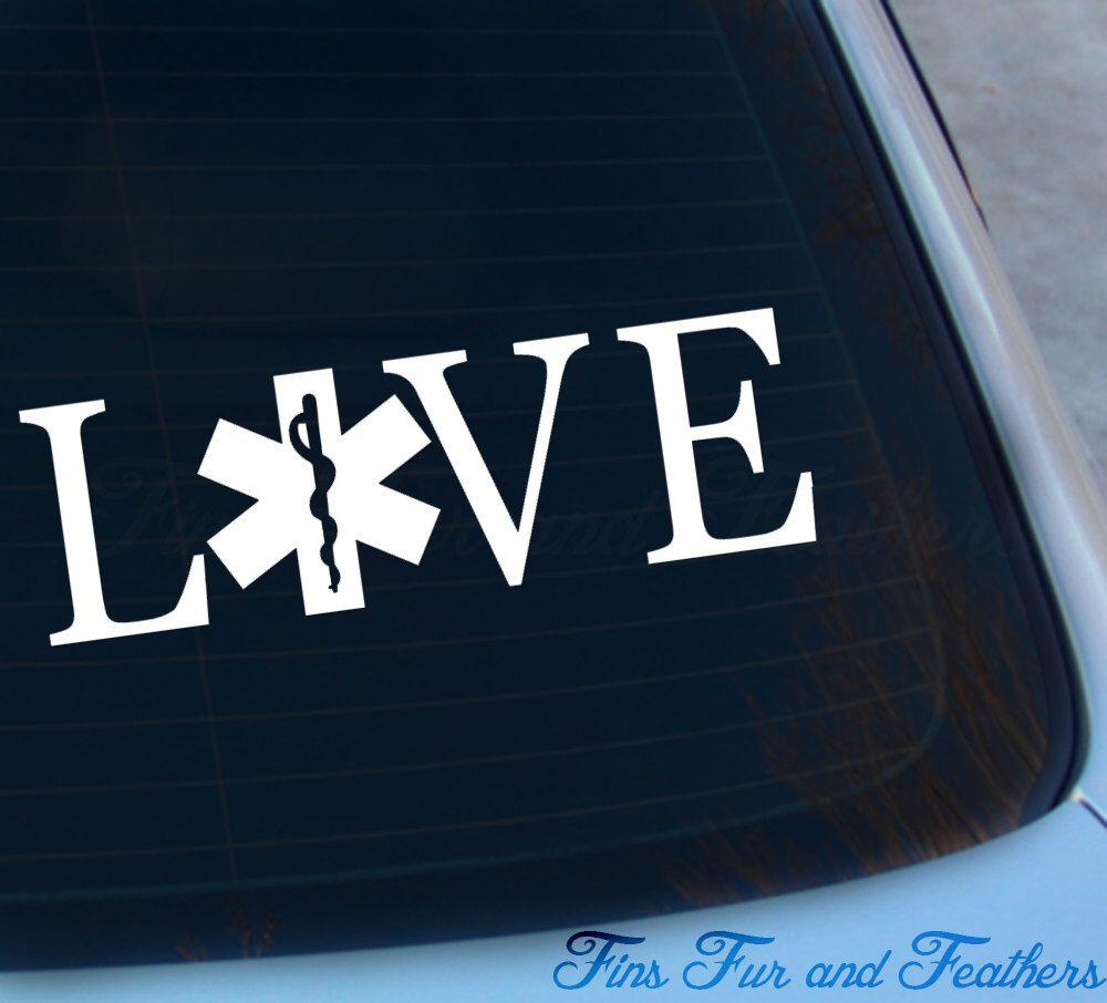 Love Emt Decal Paramedic Decal Ems Decal Vinyl Sticker Etsy Emt Vinyl Sticker Vinyl Stickers Laptop [ 906 x 1000 Pixel ]
